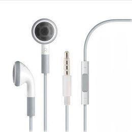 ipad handfree Promotion Prise jack stéréo 3,5 mm casque contrôle du volume des écouteurs pour 6 6s 5 5S 4 4S 3GS ipad 2 3 mains libres casque écouteurs