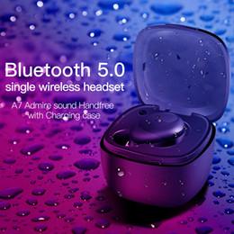 smartphone gebühren Rabatt Mini A7 TWS 5.0 Drahtloses Bluetooth-Stereo-Headset Wasserdichter Sportkopfhörer In-Ear-Ohrhörer Mit Ladebuchse für Smartphone