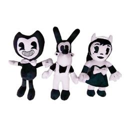 2019 beste weihnachtsgeschenke für mädchen New Game 27cm-30cm Bendy und die Ink Machine Girl und Dog Plüsch Puppe Spielzeug für Kinder Beste Weihnachtsgeschenk rabatt beste weihnachtsgeschenke für mädchen