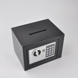 Mini bloqueo electrónico online-Mini Caja Electrónica de Dinero Caja Fuerte de Dinero Electrónico Banco de Moneda Caja de Seguridad Electrónica Digital Teclado Bloquear Casa Oficina Hotel Por Efectivo Joyas