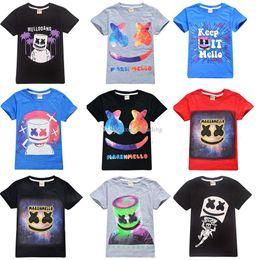 2019 vêtements de musique 38 styles garçons filles guimauves T-shirt DJ Music T-shirt 100% coton 2019 été enfants portent des vêtements décontractés pour les 6-14 ans C6713 promotion vêtements de musique