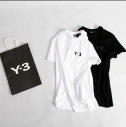 KANYE WEST caja naranja de alta calidad flocado manga corta Y 3 camiseta Hombres tops camiseta desde fabricantes