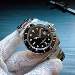 N de alta qualidade relógio de pulso de luxo 116.610 automática relógio mecânico versão V8 movimento ETA 3135, ETA2836 mergulho espelho 100m safira de
