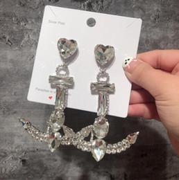 funkelndes modell Rabatt Europa und Amerika Funkelnde Strass Ohrringe Zirkon Anker Modell Ohrstecker Frauen Mode Anhänger Frau Ohrringe
