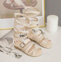 Bambine Neonati Bambino-Leather squeaky Shoes-Bianco con Fiori Rosa