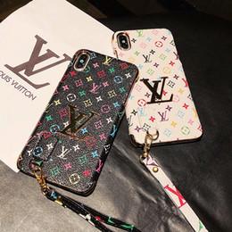 mobiltelefon-design Rabatt Luxusdesigner-Telefonkästen für iphone x xr xs maximales Handseil Anti-vergießen Entwurf PU-lederne Mobiltelefonabdeckung für iPhone6 6s 7 6plus 8plus