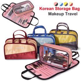Escovas de maquiagem coreano on-line-Nova Coreano bolsa de maquiagem Organizador De Armazenamento Sacos de Cosméticos cueca saco de Lavagem de grande capacidade de Viagem bolsa de higiene bolsa de Maquiagem À Prova D 'Água escova de Sacos