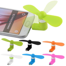 Canada Mini ventilateur électrique Ventilateur USB micro Téléphone portable Ventilateur USB Téléphone portable Pour le type c micro USB iPhone x avec paquet opp Offre