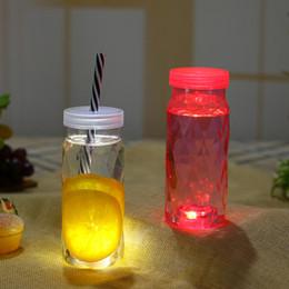 Dischi di plastica di illuminazione online-DHL invia LED Sticker Coaster Disc luce per vino bottiglia di liquore chiaro plastica Coaster partito Bar decorazione del partito