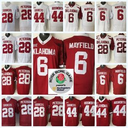 pullover sam bradford Sconti NCAA College Oklahoma Sooners 1 Kyler Murray Jersey 6 Baker Mayfield 14 Sam Bradford 28 Adrian Peterson 44 Brian Bosworth del calcio Jersey