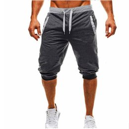 2019 justin cintos Brand Jogger Shorts with Logo Sports Shorts Mens Bermuda Shorts Summer Male Casual Knee Long Color Patchwork M-2XL