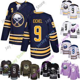 Jack viola online-Jack Eichel Jersey Buffalo Sabres Hockey su ghiaccio Uomini Donne Giovani Stanley Inverno Classico Verde Salute al servizio Viola Casa Ospite
