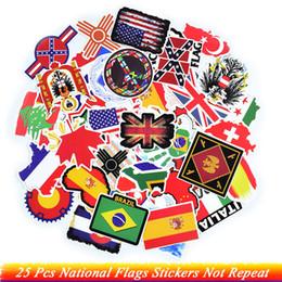 Wasserdichte weltkarten online-25 stücke nationalflaggen aufkleber nicht wiederholen weltkarte wasserdicht für diy reise case laptop kühlschrank fahrrad telefon auto gitarre aufkleber