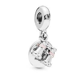 Pandora charme perlen gläser online-925 ale silber brille charme diy solide silber perlen fit für pandora armband armreif