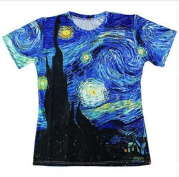 2020 nuova camicia di vernice di stile New Fashion Mens / Womans Classico Pittura ad olio Stile estivo Tees 3d Stampa Casual T-Shirt Top Plus Size CHR0306