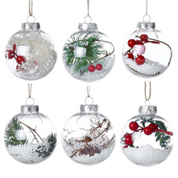 2019 decorazioni in baubles Christmas Transparent Ball 6 Styles Romantic Xmas Tree Pendant Hanging Decorazioni Trasparente Bauble Ornamento Decorazioni natalizie OOA6007 decorazioni in baubles economici
