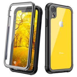 2019 protectores de pantalla diseñados Diseñado para el caso del iPhone XR, protección completa de servicio pesado transparente con protector de pantalla incorporado Cubierta resistente a prueba de golpes Diseñado protectores de pantalla diseñados baratos