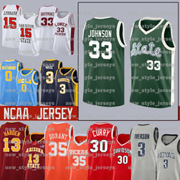 2021 jersey de basket-ball michigan Johnson NCAA Michigan State Sprtans Draylond 33 Earvin Jersey Indiana Bird Birdge Basketball Jersey Leonard 23 Michael Pippen