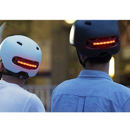 Xiaomi Smart4u impermeable casco de bicicleta Smart Flash cascos hombres mujeres luz de fondo Mountain Road Bike Helmet LED luz de advertencia desde fabricantes