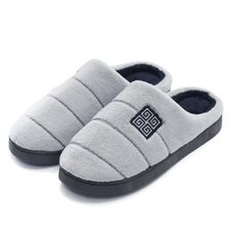 GieniG Herren Baumwollhausschuhe 2018 Winter Warm Plüsch Flat Home Floor Schuhe Baumwolle Herren Hausschuhe von Fabrikanten