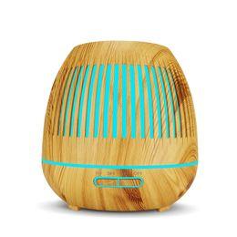 Diffuseur ultrasonique d'huile essentielle d'arome d'humidificateur d'air de 400ML avec le grain en bois 7 couleur changeant des lumières de LED pour la maison de bureau ? partir de fabricateur