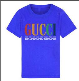 Kinder r online-2019 Neue Luxus Designer Kinder Shirts Marke 1-9 Jahre alt Jungen Mädchen T-Shirts R Shirt Tops Baumwolle Kinder Tees Kinder Kleidung 2 Farben BNOFGR