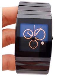 Ceramica xl online-Cronografo movimento al quarzo con movimento al quarzo in ceramica nera completa di alta qualità, orologio da uomo, orologio da polso maschile