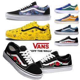 78656fe3 Zapatos de moda Unisex House off Vans Hombres Mujeres zapatillas negro  blanco Verde para skate Zapatillas deportivas Classic VANS Old skool Causal  36-44 ...