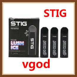 Recharge ecig en Ligne-Kit de démarrage Vgod Stig Pod d'origine 270mAh Kit de stylo ECG Vape à charger rechargeable avec 1,2 ml de dosettes Portable 100% authentique