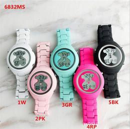 Relógios de pulso on-line-2019 candy-colored cinto de aço eletrônico lazer cor bonito dos desenhos animados clássico esportes lady watch colorido design de moda