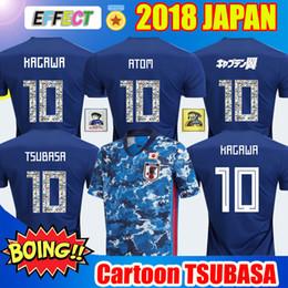 Kit de números jersey on-line-2018 Copa do Mundo Japão Futebol Jersey 2020 Thialand Qualidade Capitão ozora TSUBASA 10 OLIVER ATOM KAGAWA camisas do futebol Kit desenhos animados Número