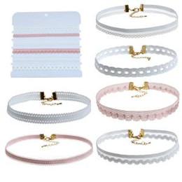 6 Unids / set Mujeres Collar de Encaje Gargantilla Collar de Moda Collar Clásico Colgante Dama Vestido Accesorios LLA107 desde fabricantes