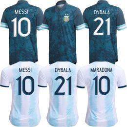 Camisa de time de futebol da argentina on-line-Copa América 2020 20 21 camisas de futebol 2,021 Argentina Jerseys MESSI DYBALA DI MARIA AGUERO HIGUAIN camisa de futebol lar nacional da equipe
