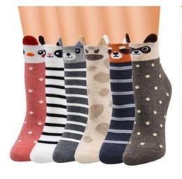 2019 calcetines invierno calidad hombre Invierno mujeres calcetín animal encantador otoño adolescente panda oso gato de dibujos animados calcetines para hombres niñas algodón de calidad superior calcetines calientes regalos baratos calcetines invierno calidad hombre baratos