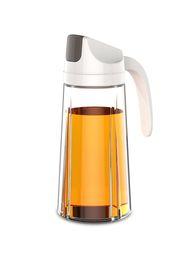 Бутылки для масла онлайн-Кухня 500 мл Масляная бутылка Премиум бутылка оливкового масла Диспенсер для уксуса Дозаторы стеклянный корпус Кухонное масло Уксус Pourer 500 мл