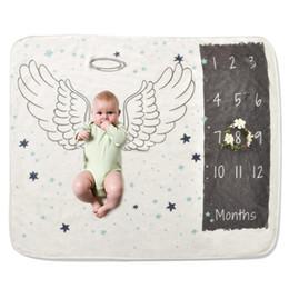 amo cobertor rosa Desconto 2019 Bebê recém-nascido Milestone Cobertor Fotografia Prop Background Crescimento Mensal Sessão de fotos cama envoltório Swaddle cobertores do bebê