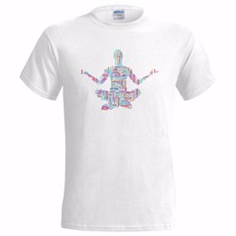 Argentina YOGA POSE ART1 MENS T SHIRT MANTRA LOTUS PAZ SALUD FITNESS HEALTHY BUDDHISM Harajuku Verano 2018 supplier lotus t shirts Suministro