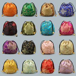 Bolsas calientes chinas online-Bolsillo con cordón de estilo chino 16 colores Mini joyería Bolsas de embalaje Bolsa de regalo Fit Small Things Venta caliente 0 85kl E1