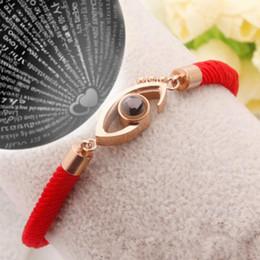 hochzeitstag armband Rabatt 100 sprachen armband ich liebe dich rotes seil charme armband romantische liebe erinnerung hochzeit schmuck valentinstag geschenk mma1298 200 stück