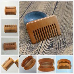 Cabelos masculinos on-line-Delicado pente de madeira personalizado seu LOGOTIPO barba pente pentes personalizados a laser gravado pente de cabelo de madeira para as mulheres homens grooming