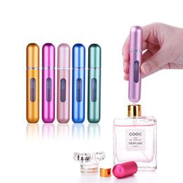 caldo 8ml Ricaricabile Mini Perfume Spray bottiglia di alluminio dello spruzzo portatile Viaggi contenitore cosmetico bottiglia di profumo da