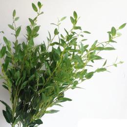 piante artificiali rosse Sconti New Fashion Olive Tree Branch Stem Artificiale Verde / Rosso Olive Leaf 6 Steli / Pezzo Verde Vegetale Pianta Olive Fogliame Decorazione di nozze