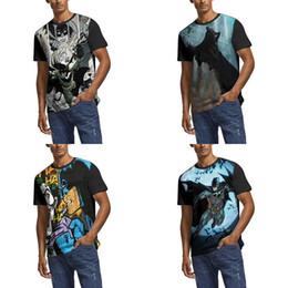 Erkekler Tasarım Baskı Batman Comics posteri beyaz T gömlek Vintage Bant Gömlek Hip hop Moda Bira Karikatür batman illüstrasyon yarasa joker 3 cheap joker batman poster nereden joker batman posteri tedarikçiler