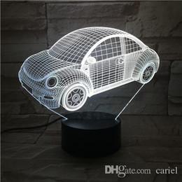 Presentes beatles on-line-Cariel New carro de controle remoto Beatles 3D candeeiro de mesa USB Colorful 7 Cor Mudar LED Partido Home Quarto Noite decorativa Luz presente wn312B