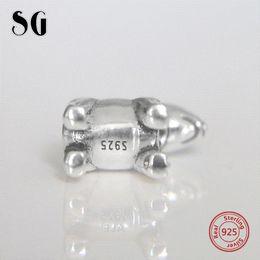 SG gümüş 925 takı Bull Terrier hayvan köpek evcil boncuk bilezik fit orijinal pandora bilezik charms diy güzel takı yapımı nereden