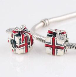 2019 rote bandarmbänder LW147 Die DIY Silber Red Ribbon Geschenkbox 925 Sterling Silber Thread Perlen Perlen Fit Für Marke Armband Halskette günstig rote bandarmbänder