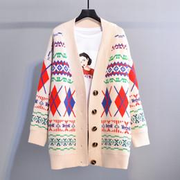 Sonbahar Bahar Yeni Tatlı Dış Giyim Kampüsü Kız Kazak 2019 Kadın Gevşek Tek Göğüslü Hırka Örme Kazak Beyaz Mavi Kırmızı nereden
