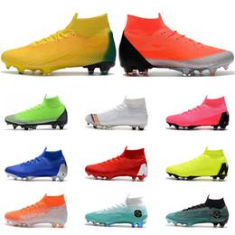 Nike Mercurial Superfly VI 360 FG nero oro bianco verde blu argento Ronaldo Neymar Scarpe da calcio per uomo tacchetti taglia 39 45