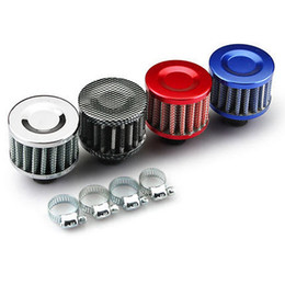 Luftfilter für autos online-Auto Kaltluftfilter 12MM Clip-On Rundkegel Auto Kaltluft Mini Filter Luftansaugteile HA91