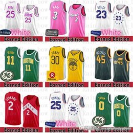 8045085b0 Earned 76ers Jimmy 23 Butler Embiid Simmons 11 Kyrie Jersey Irving Celtic  Warriors Curry Derrick 25 Rose Timberwolves Dwyane 3 Wade Leonard wade  basketball ...